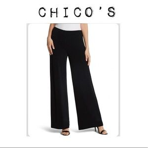 🌻Like New! Chico's Black Wide Leg Pants